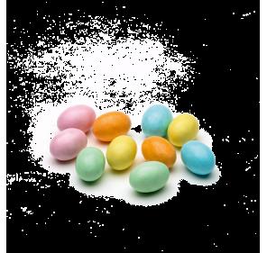 Little sugar eggs filled...