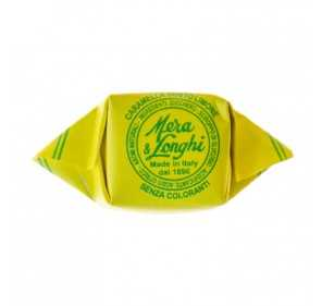 Lemon candies in tin box