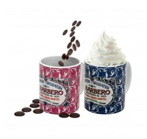 2 Barbero Tasse mit Schokolade